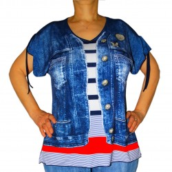 T-shirt manches courtes imprimé jean masquenada