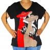 T-shirt imprimé femmes manches courtes masquenada