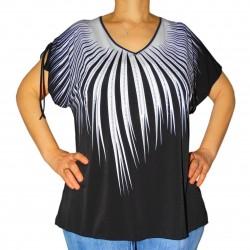 T-shirt femme imprimé strass Masquenada