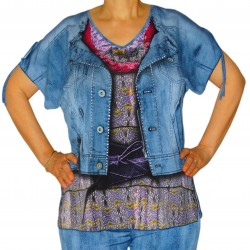 T-shirt femme imprimé jean Masquenada
