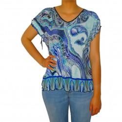 T-shirt femme imprimé à strass Masquenada