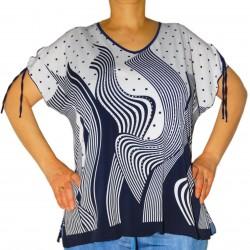 T-shirt imprimé feuilles pois femme Masquenada